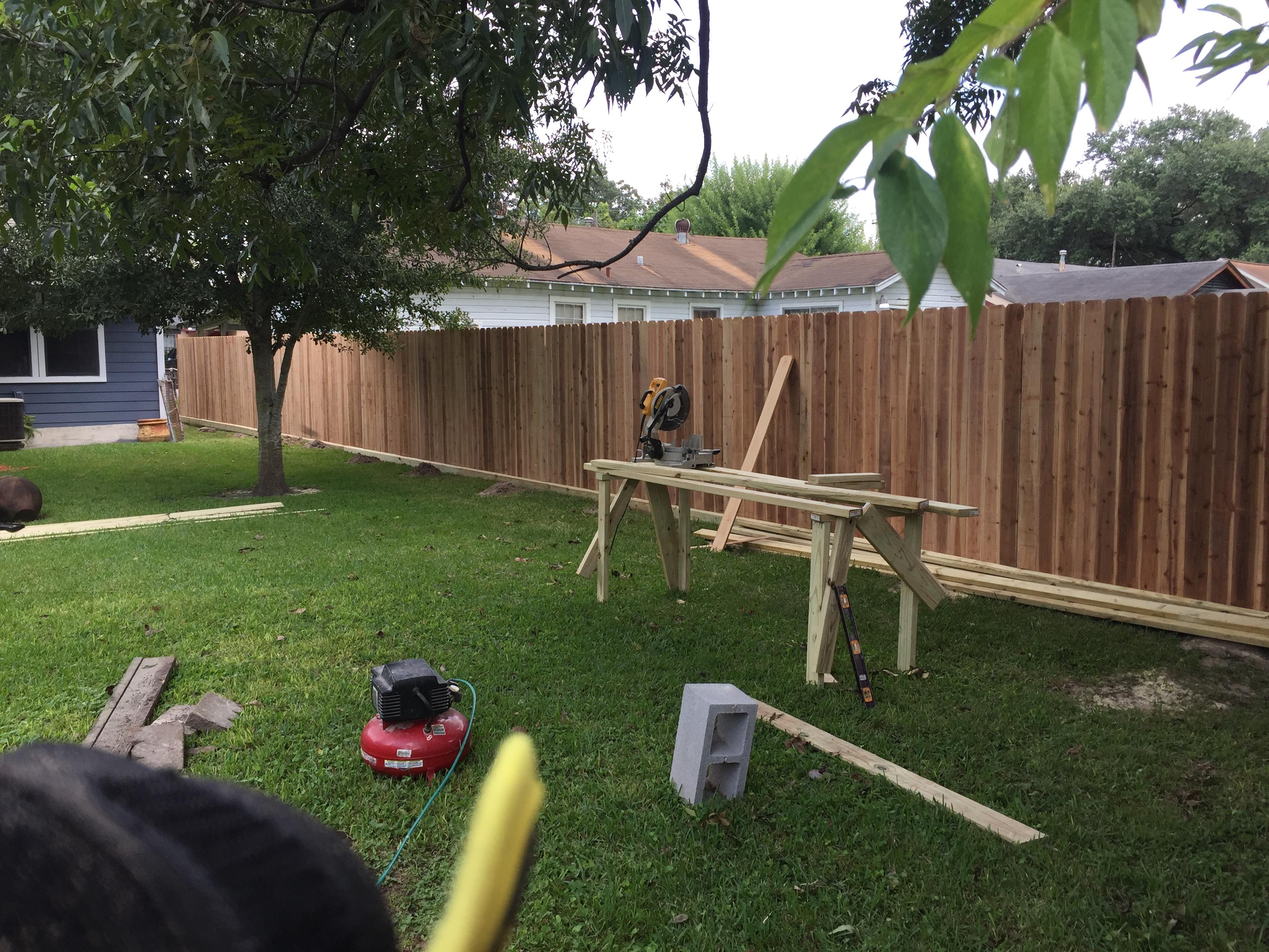 Cedar Fence Installtion