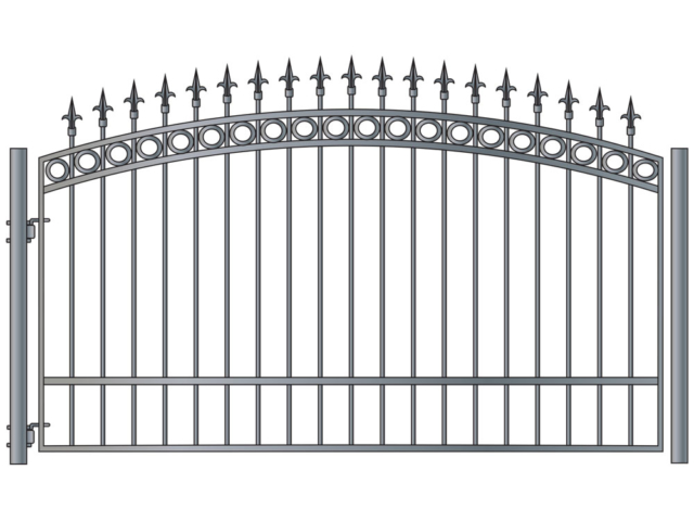 Custom wrought iron gate Style 1