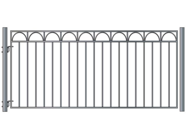 Custom wrought iron driveway gate
